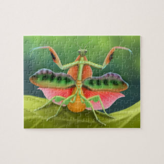 Colorful African Praying Mantis on Display Puzzle