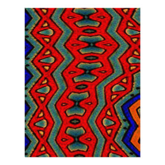 Colorful African Print Personalized Letterhead