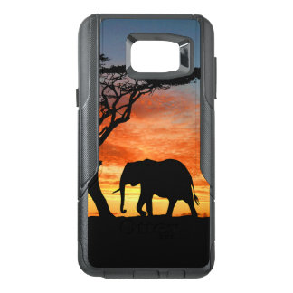 Colorful African Safari Sunset Elephant Silhouette OtterBox Samsung Note 5 Case