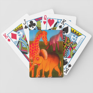 Colorful  African wild animal safari colors Bicycle Playing Cards