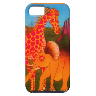 Colorful  African wild animal safari colors Case For The iPhone 5