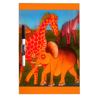Colorful  African wild animal safari colors Dry-Erase Whiteboards