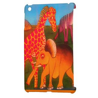 Colorful  African wild animal safari colors iPad Mini Case