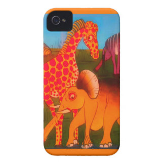 Colorful  African wild animal safari colors iPhone 4 Case
