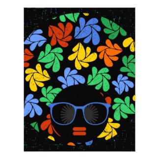 Colorful Afro Love Letterhead