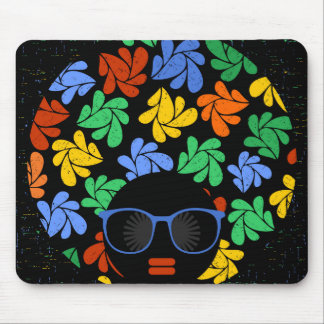 Colorful Afro Love Mouse Pad