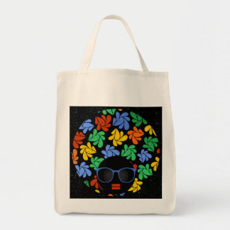 Colorful Afro Love Tote Bag
