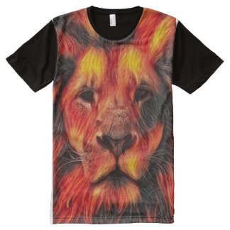 Colorful Airbrush Lion Art