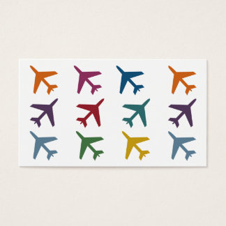 Colorful Airplanes Travel Business Cards