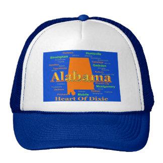 Colorful Alabama State Pride Map Mesh Hat