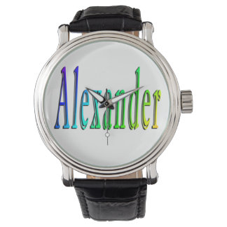 Colorful Alexander Name Logo, Watch