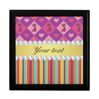 Colorful Alice in Wonderland and Stripes Gift Box