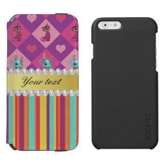 Colorful Alice in Wonderland and Stripes Incipio Watson™ iPhone 6 Wallet Case