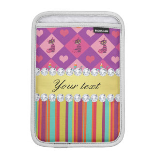 Colorful Alice in Wonderland and Stripes iPad Mini Sleeve