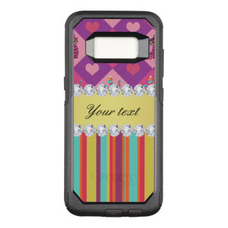 Colorful Alice in Wonderland and Stripes OtterBox Commuter Samsung Galaxy S8 Case