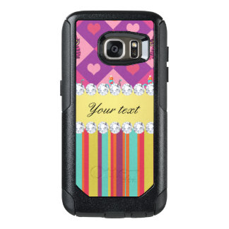 Colorful Alice in Wonderland and Stripes OtterBox Samsung Galaxy S7 Case