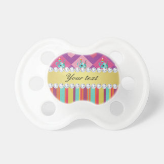 Colorful Alice in Wonderland and Stripes Pacifier