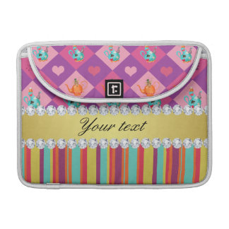 Colorful Alice in Wonderland and Stripes Sleeve For MacBook Pro