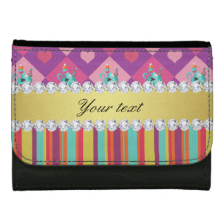 Colorful Alice in Wonderland and Stripes Wallet