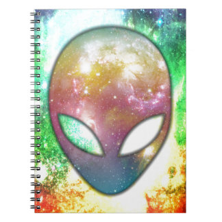 Colorful Alien Notebooks