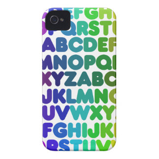 Colorful Alphabet for a TEACHER iPhone 4 Cover