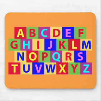 Colorful Alphabet Mouse Pad