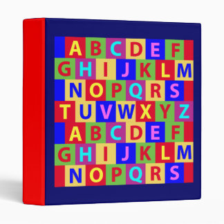 Colorful Alphabet Vinyl Binder