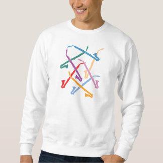 Colorful Alto Clarinets Sweatshirt