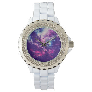 Colorful Amazing Space Invaders Rhinestone Watch