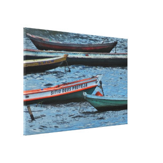 Colorful Amazon Boats Canvas Print