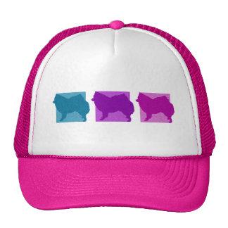 Colorful American Eskimo Dog Silhouettes Trucker Hat
