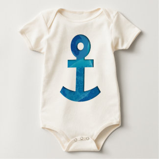 Colorful anchor baby bodysuit