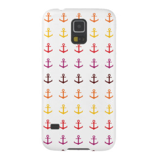 Colorful anchor pattern galaxy s5 cover