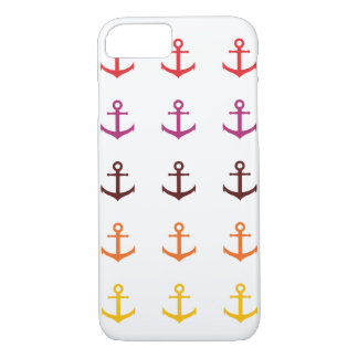 Colorful anchor pattern iPhone 8/7 case