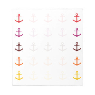 Colorful anchor pattern notepad