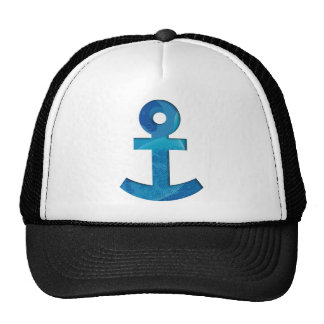 Colorful anchor trucker hat
