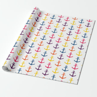 Colorful anchors pattern