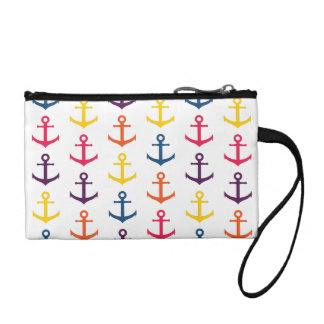 Colorful anchors pattern change purses