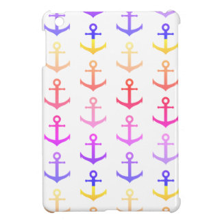 Colorful anchors pattern iPad mini case