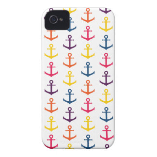 Colorful anchors pattern iPhone 4 Case-Mate cases