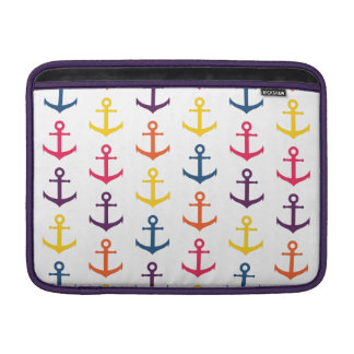 Colorful anchors pattern MacBook sleeve