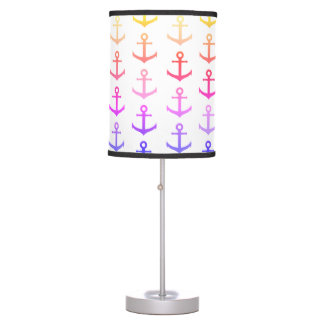 Colorful anchors pattern table lamp
