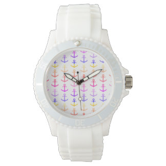 Colorful anchors pattern watch