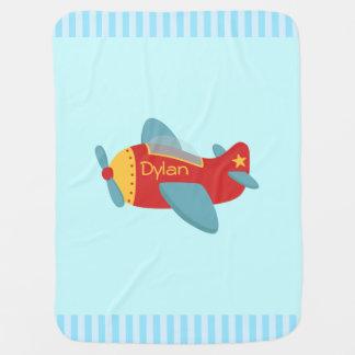 Colorful and Adorable Cartoon Aeroplane Baby Blanket