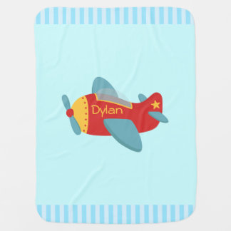 Colorful and Adorable Cartoon Aeroplane Swaddle Blankets