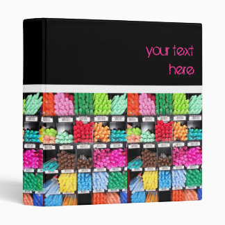 Colorful and Bright Marker Display 3 Ring Binders