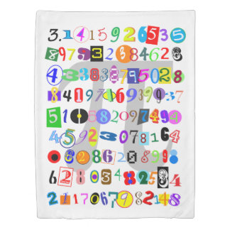 Colorful and Fun Depiction of Pi Duvet Cover