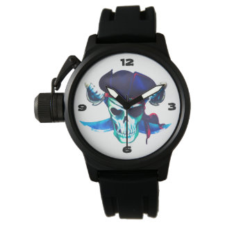 Colorful and Fun Pirate Skull & Crossed Swords Watch