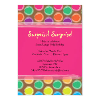 Colorful and Pink Polka Dot Invitations