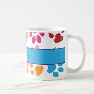 Colorful Animal Paw Prints Coffee Mug